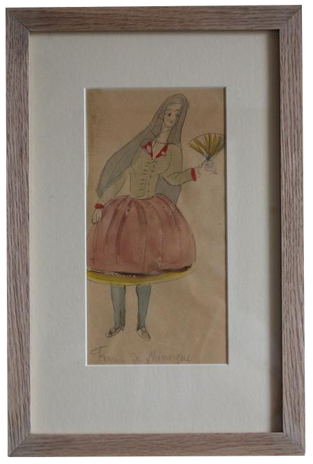 Original 1940s  Watercolour by Erna DEM