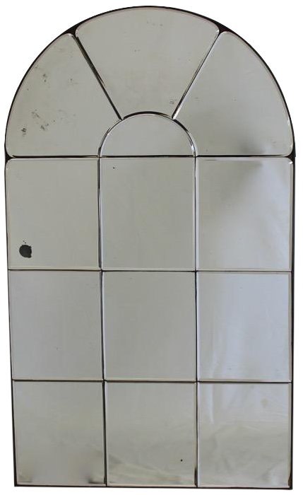 Pair of 1970s French Arch Top Mirrors