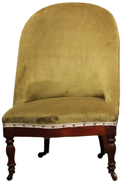 Pair of 19th Cent French Slipper Chairs