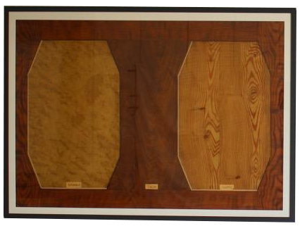 Pair of 19th Cent newly framed Hand Painted Sample Boards