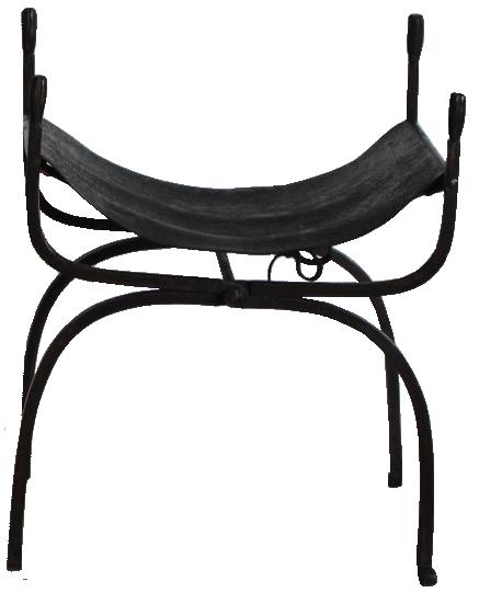 Pair of 19th century Spanish X Framed Stools