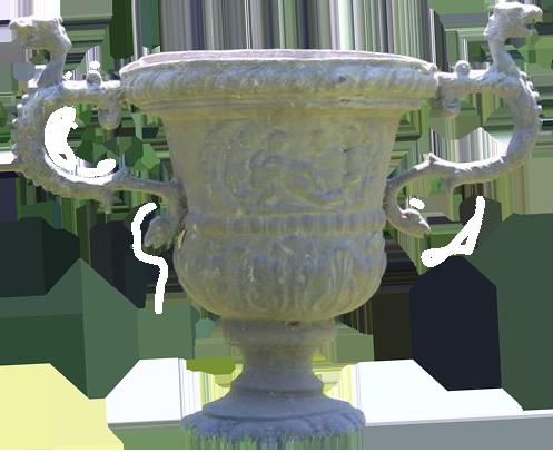 Pair of Antique English Lead Garden Urns in the Georgian Taste