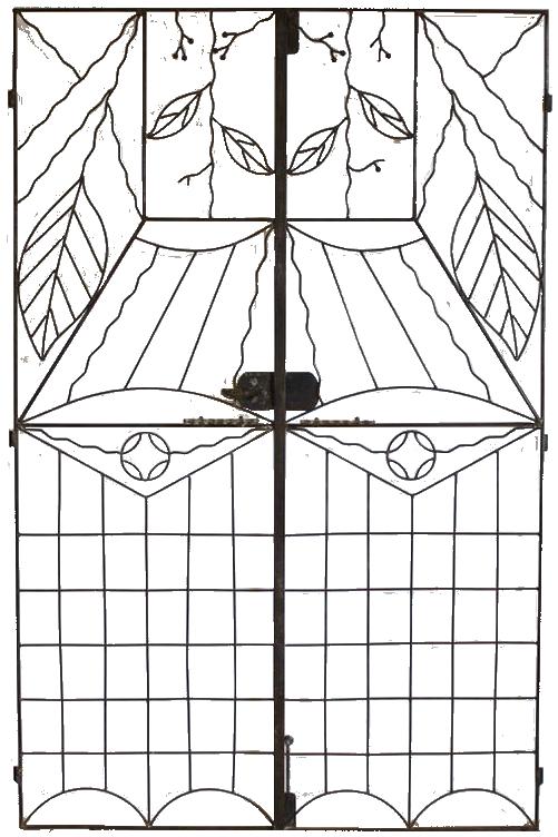 Pair of Art Deco Garden Gates