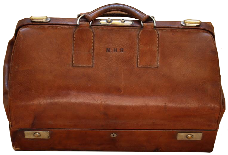 S.T.Dupont (Paris)  Large Early 20th century Briefcase Bag in Leather