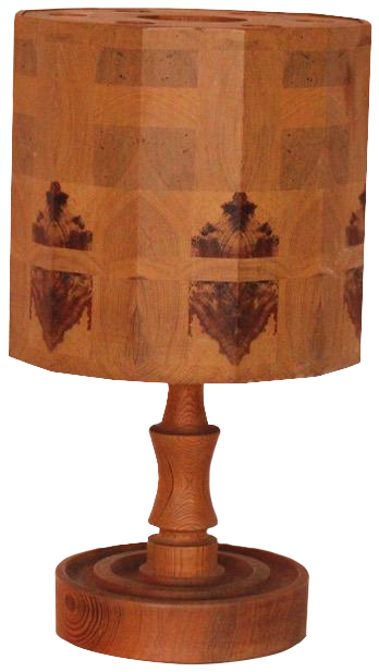 Stylish 1950s/60s Wooden Table Lamp with the original Wooden Shade