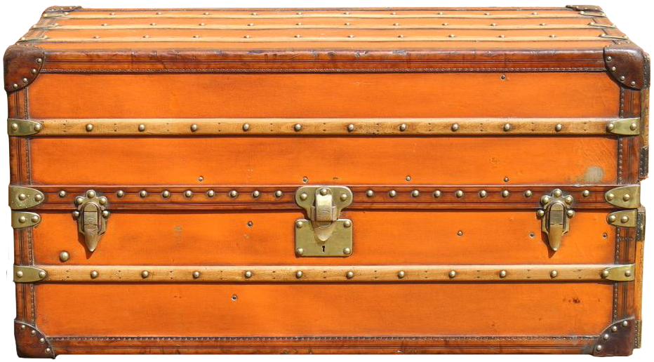 Superb Orange Louis Vuitton Vuittonite Wardrobe Trunk