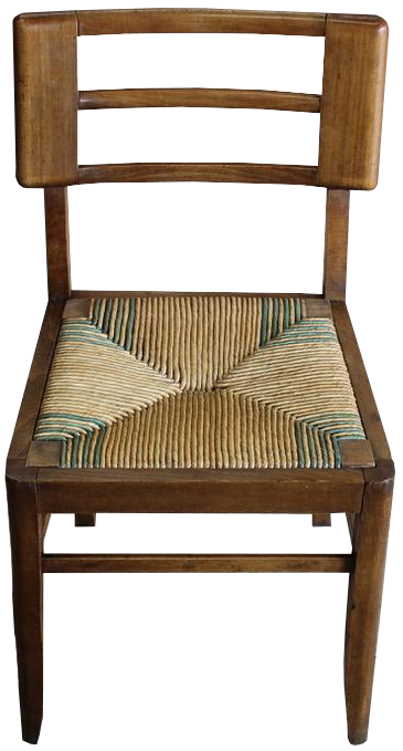Two sets of Four, Circa 1950s French Dining Chairs by Pierre Cruege