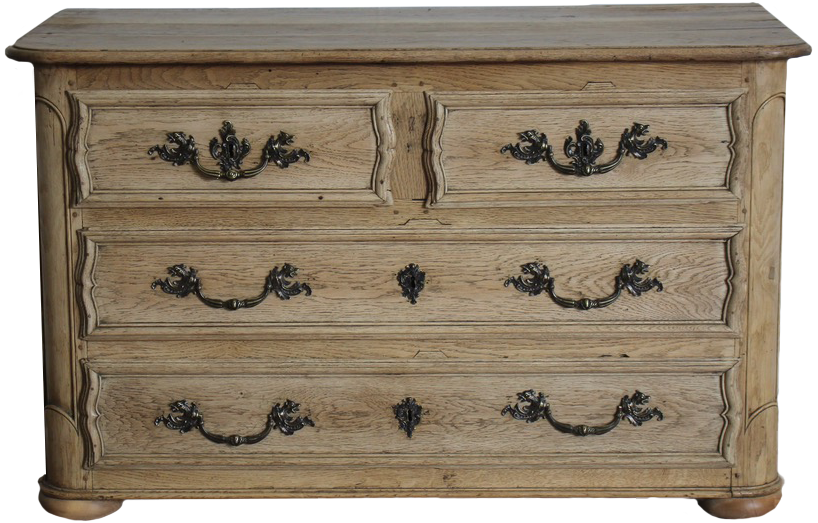 18th Century French Bleached Oak Commode