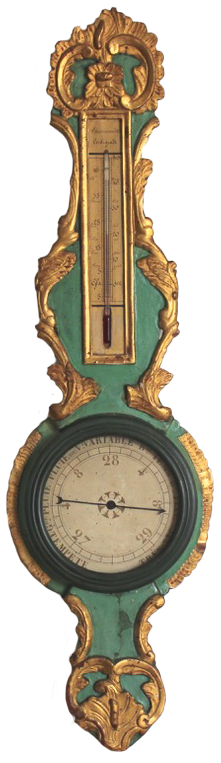 18th Century French Louis XV Period Barometer/ Thermometer