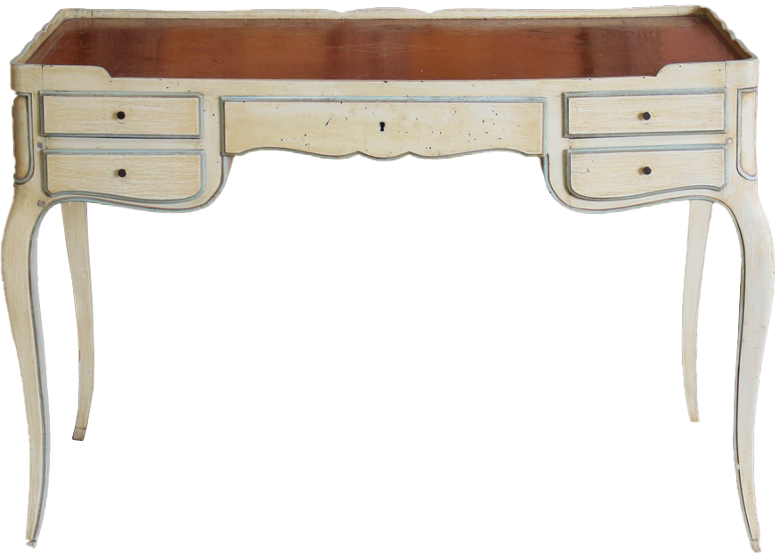 1920s French Painted Desk in the Louis XVI taste by Gouffé