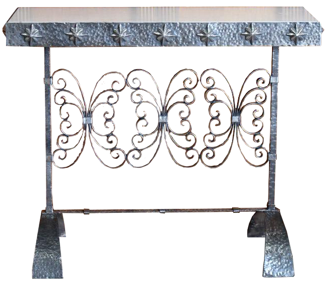 1940s/50s Spanish Polished Steel Console Table