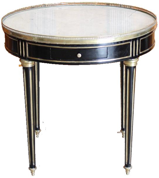 1940s Frech Ebonised Bouillotte Table in the Louis XVI Taste