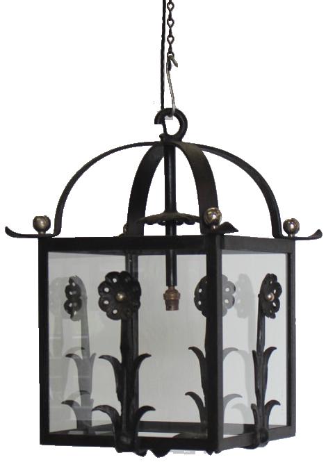 1940s French Hanging Lantern