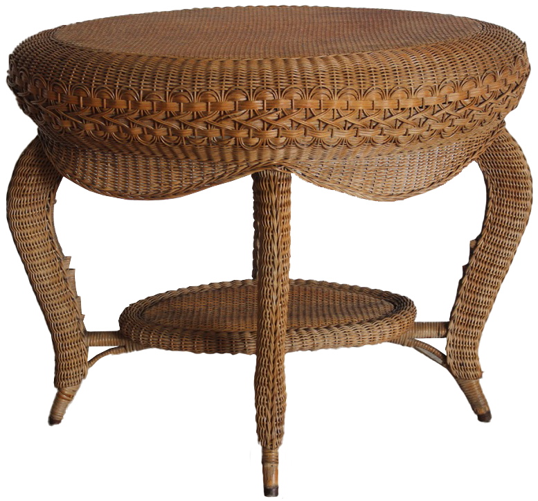1960s French Cane Centre Table