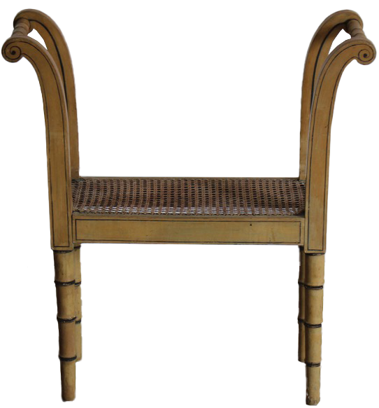 19th Century English Painted Window Seat