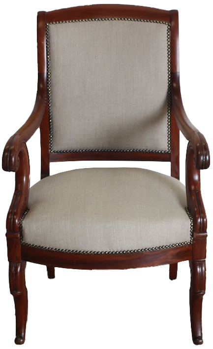 19th Century French Desk Chair / Fauteuil
