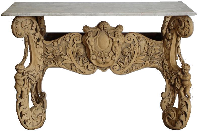 19th Century Italian Console Table in Pine
