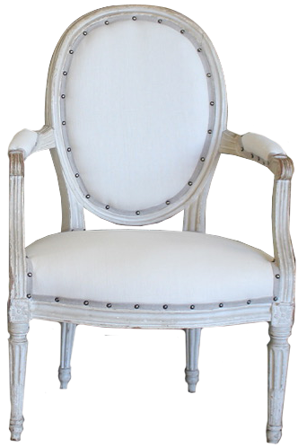 Fine Pair of 18th Century French Louis XVI Period Painted Fauteuils