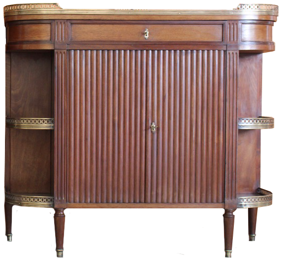 Fine Pair of 19th Cent French Mahogany Dessert Consoles in the Louis XVI Taste
