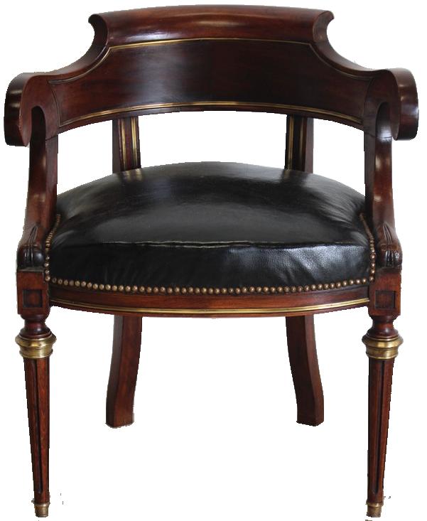 Fine Quality Circa 1910 French Desk Chair in the Louis XVI Taste