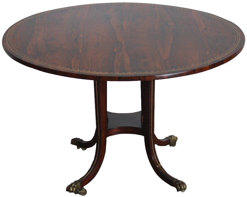 Fine Quality Early 19th Cent English Regency Period Rosewood Table