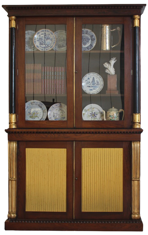 George IV Library Bookcase in the Manner of  Gillows Circa 1830