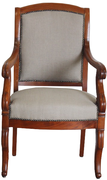 Good Pair of 19th Cent French Desk Chairs / Fauteuils