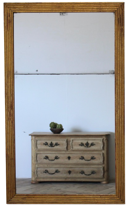 Large Mid 19th century French Gilt wood Mirror