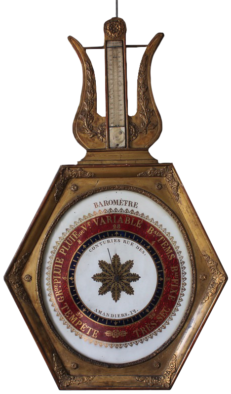 Late 18th Cent French Barometer/ Thermometer