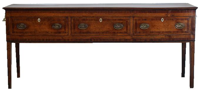 Late 18th century English Oak & Mahogany Side Table