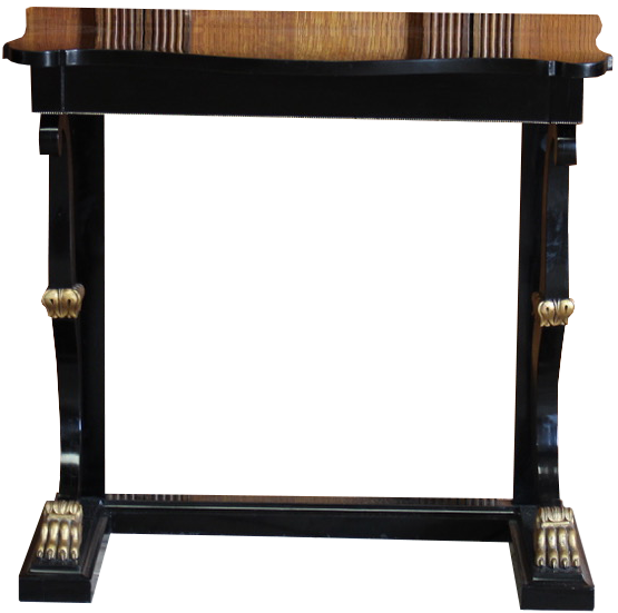 Late 19th/ Early 20th cent Italian Ebonised Console Table
