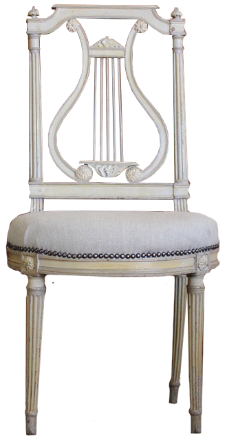 Pair of 1920s French Occasional Painted Chairs in the Louis XVI Taste