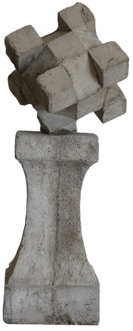 Pair of 1950s French Reconstituted Stone Finials
