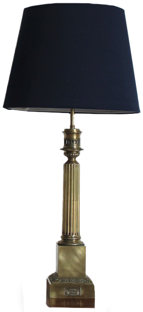 Pair of 19th Century French Brass Sinumbra Table lamps