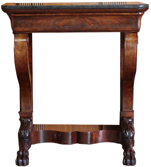 Small 19th Century French Marble Top Console Table