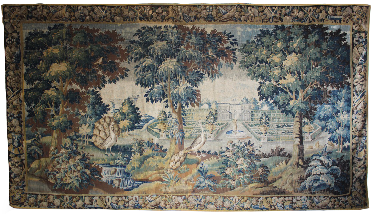 Superb 18th Cent Aubusson Tapestry in Wool & Silk