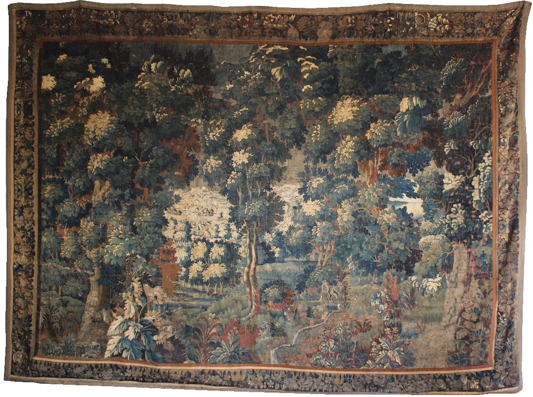 17th Century Aubusson Verdure Tapestry