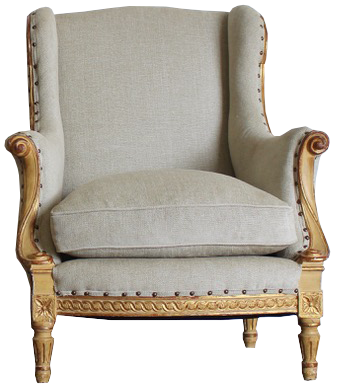 Fine Pair of 1920s French Parcel Gilt Armchairs