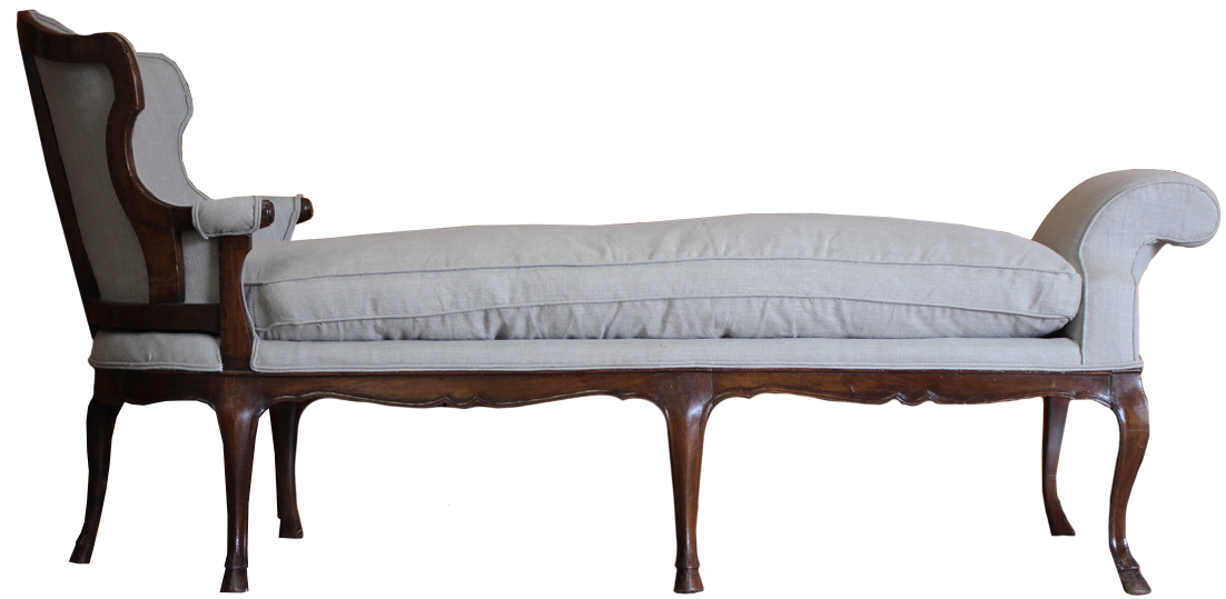 Large 19th century French Daybed in the 18th Century Taste