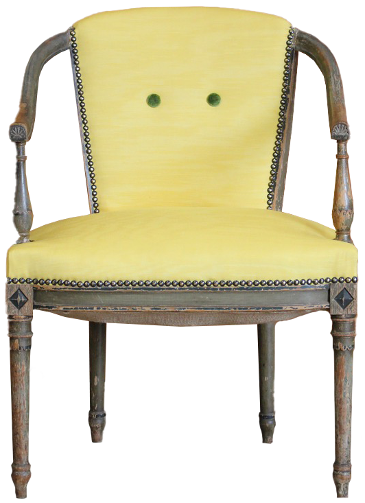 Late 18th century French Directoire Period Painted Desk Chair