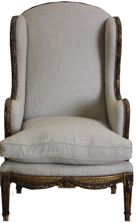Late 19th Cent French Giltwood Armchair