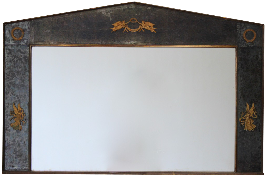 Mid 20th Century Large French Landscape Mirror in the Empire Taste
