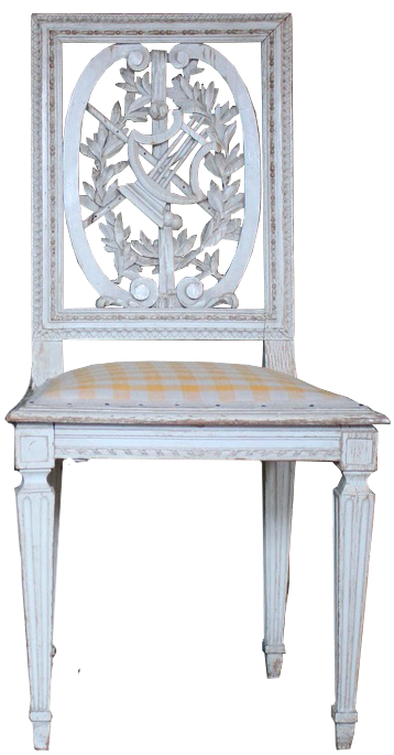 Pair of 19th Century French Occasional Painted Chairs in the Louis XVI Taste
