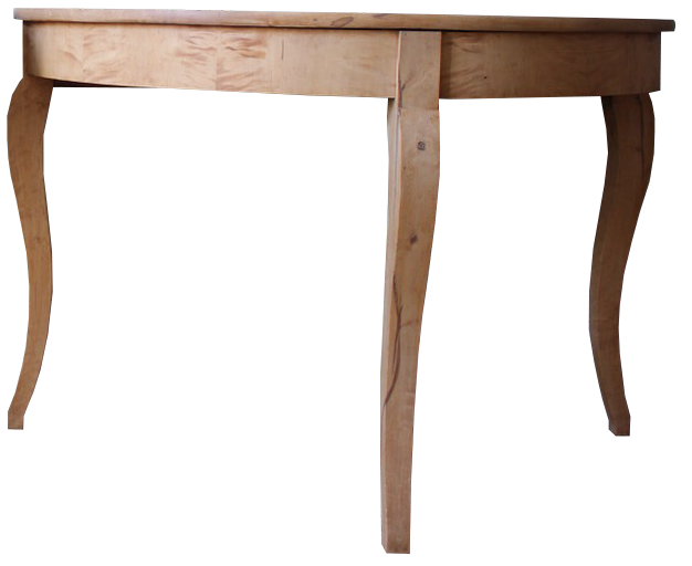 Pair of 19th century Swedish Demi lune Console Tables in Bleached Birch