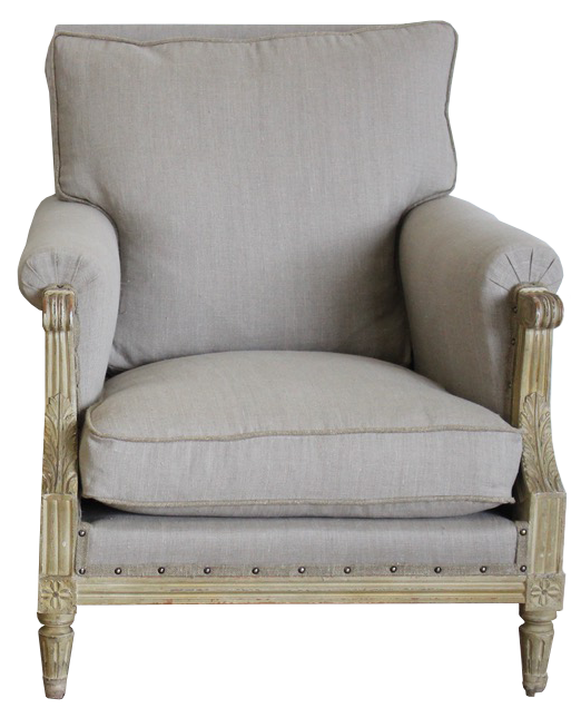 Pair of Early 20th Cent French Painted Armchairs in the Louis XVI Taste
