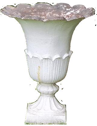 Superb Set of Four  Large 19th century Cast Iron Tulip Shape Garden Urns