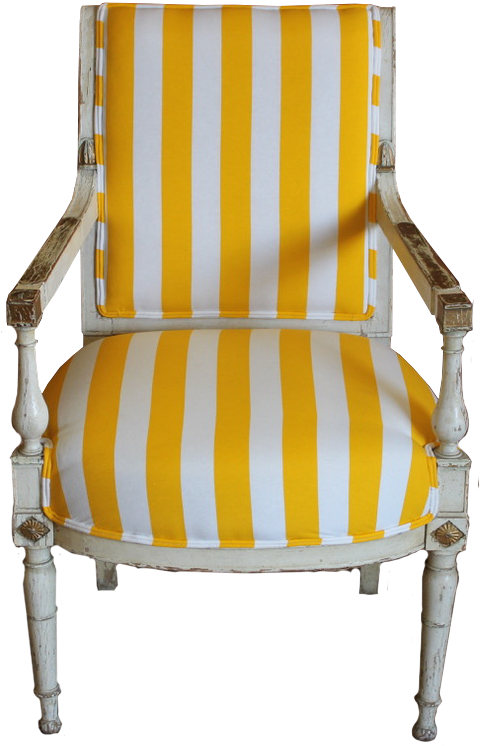 19th Century French Painted Fauteuil / Desk Chair