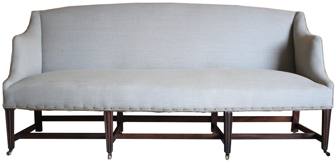 Early 20th Cent English Eight Legged Sofa in the Georgian Taste