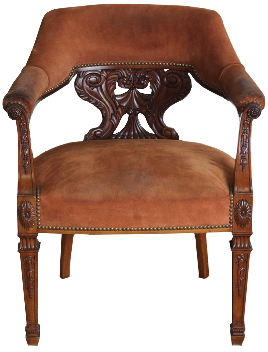 Fine Early 19th Cent Large Louis Philippe Desk Chair
