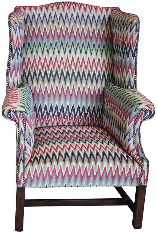 Good Pair of Circa 1900 English Wing Back Armchairs Newly Upholstered